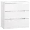 High Gloss White Finish Chest of 3 Drawers