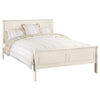 Stone White Lacquered Finish Sleigh Bed