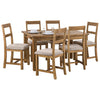 Rough Sawn Solid Pine Extending Dining Set