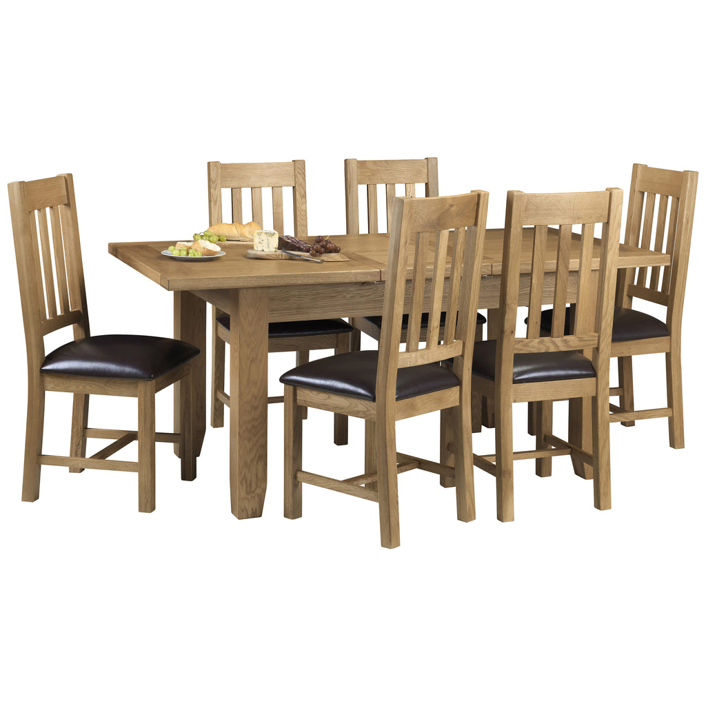 Solid Oak & Veneer Extending Dining Set