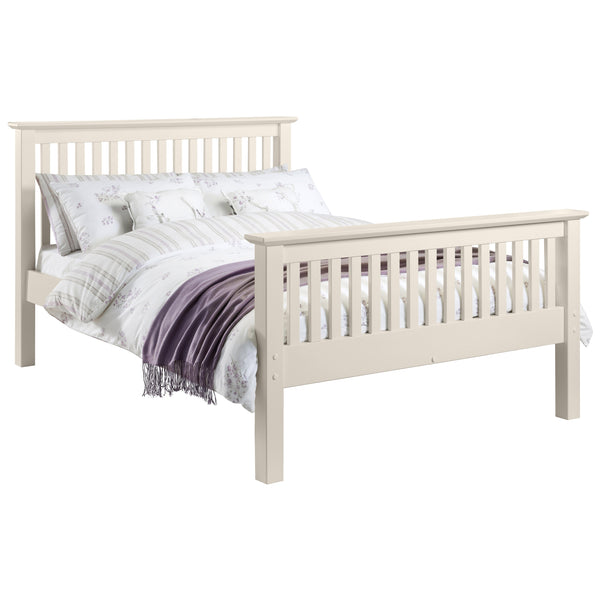 Stone White Lacquered Finish Bed Frame