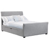 Light Grey Fabric Storage Bed