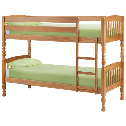 Antique Lacquered Finish Pine Bunk Bed