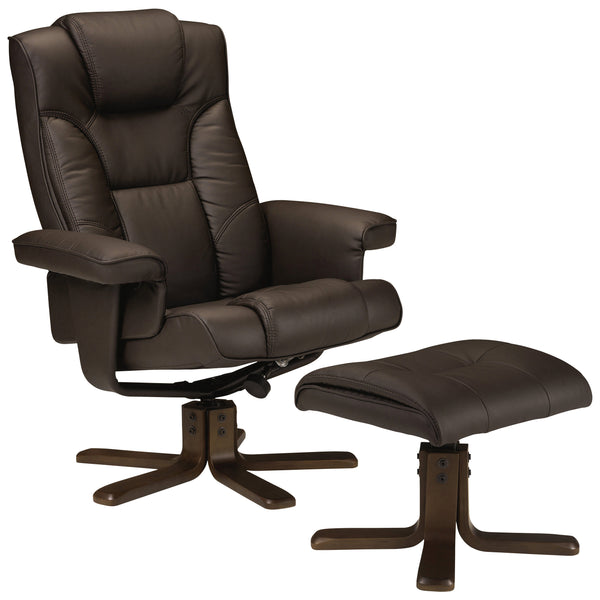 Soft Touch Faux Leather Recliner Swivel Chair