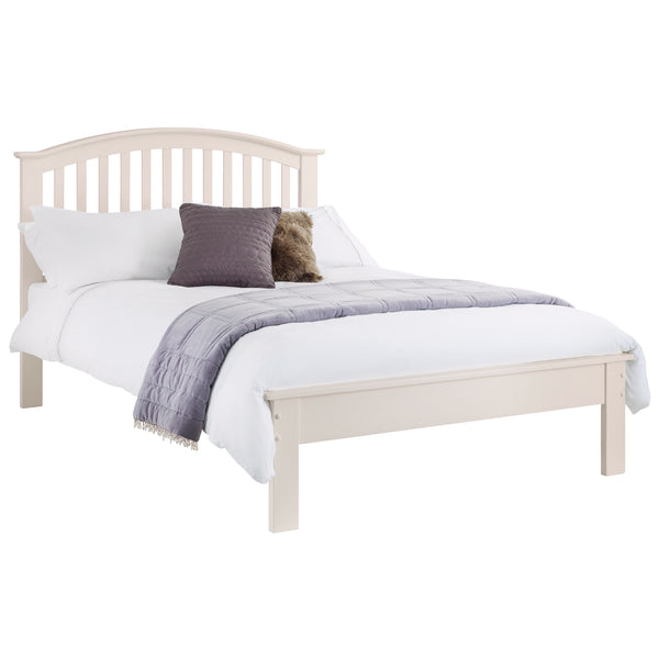 Stone White Finish Bed Frame