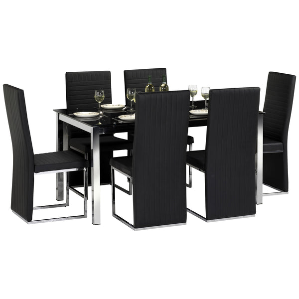 Chrome & Glass Dining Set
