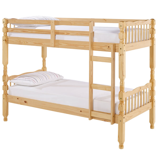 Honey Stain Finish Solid Pine Bunk Bed