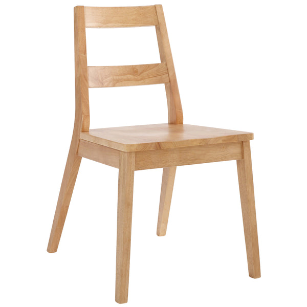 2x Solid White Oak Dining Chairs