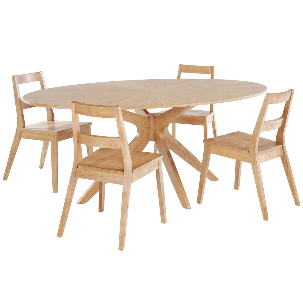 Solid White Oak Dining Set
