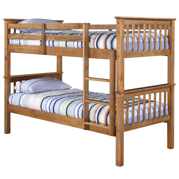 Antique Wax Finish Pine Bunk Bed