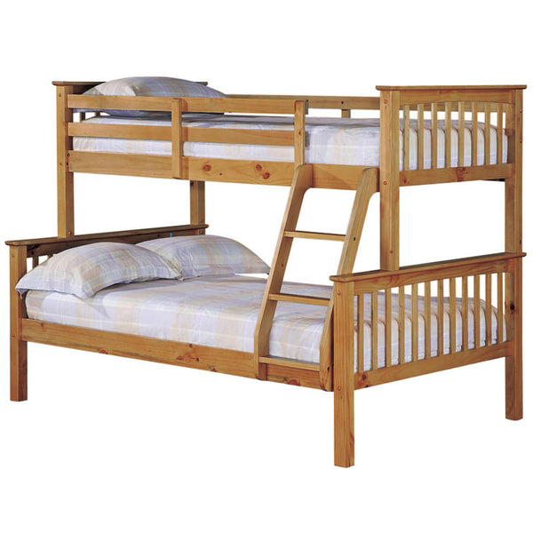 Antique Wax Finish Pine Triple Sleeper Bunk Bed