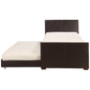 Brown Faux Leather Guest Bed