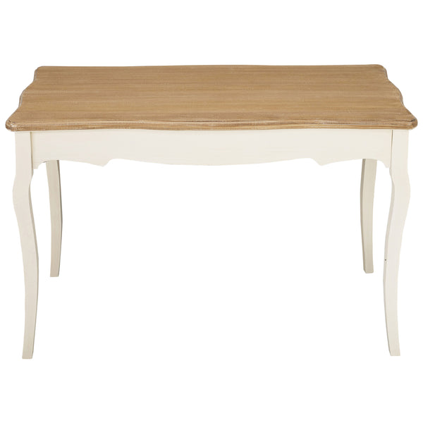 Cream & Wood Finish Dining Table