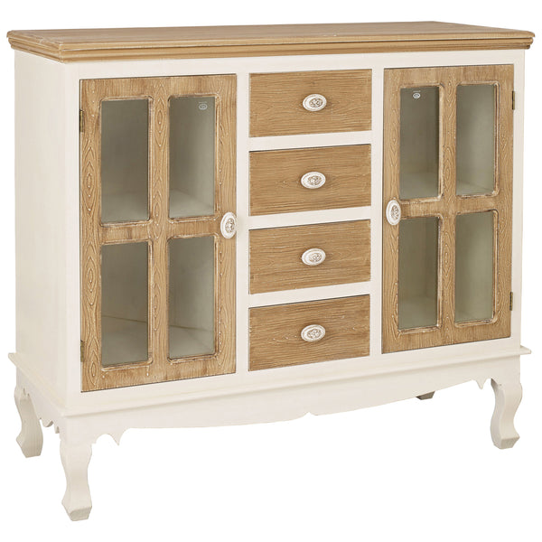 Cream & Wood Finish Sideboard