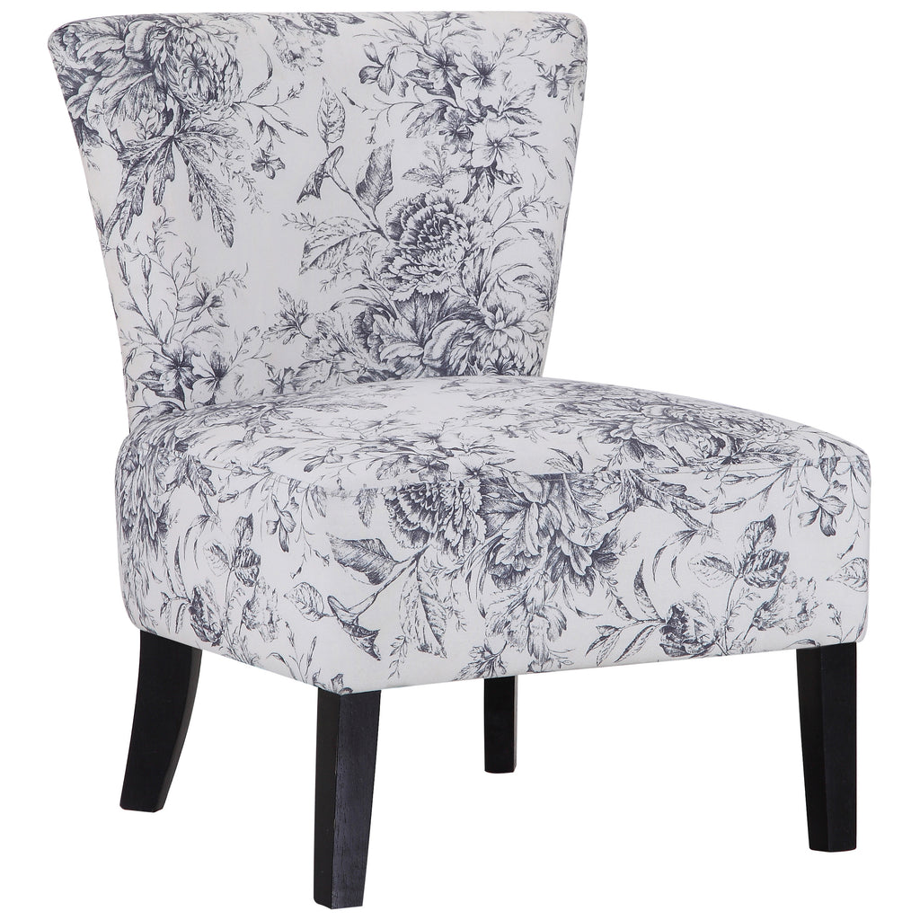 Floral Fabric Accent Chair