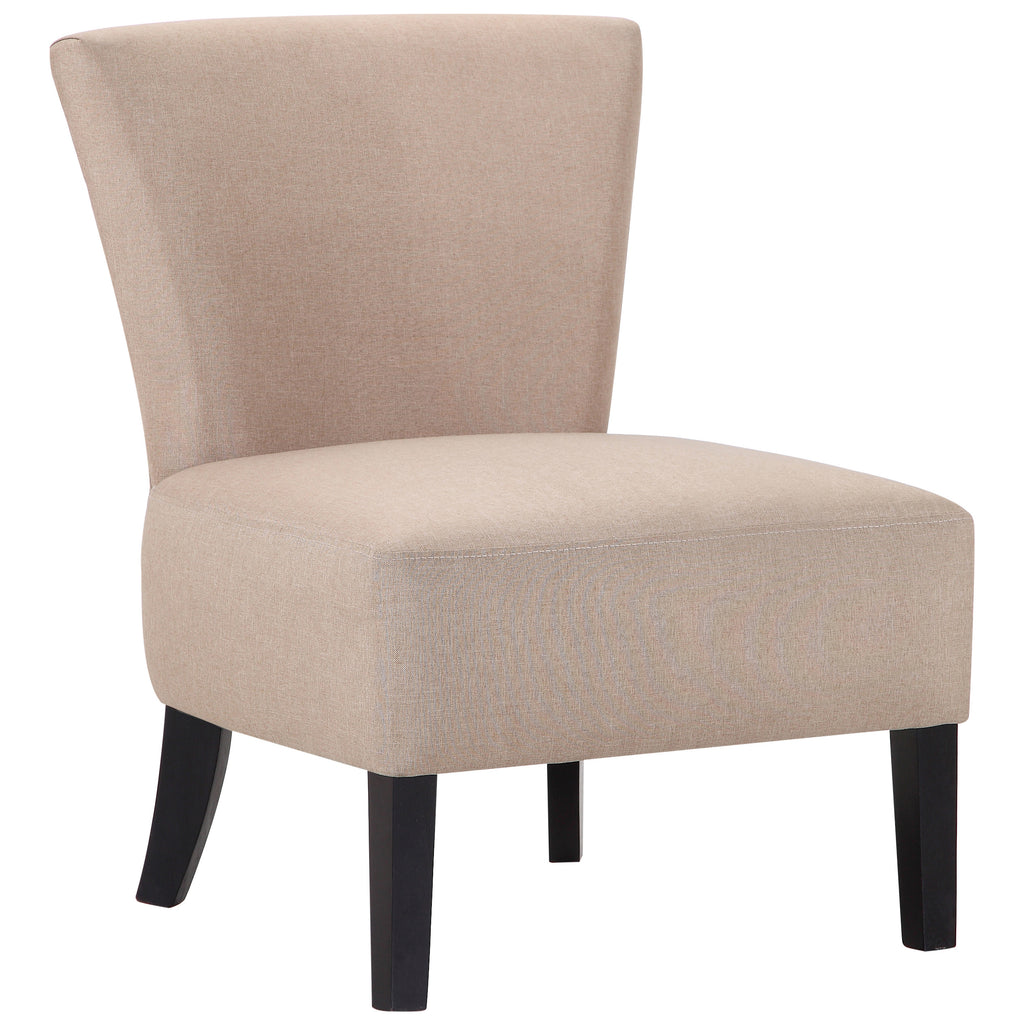 Sand Linen Style Fabric Accent Chair