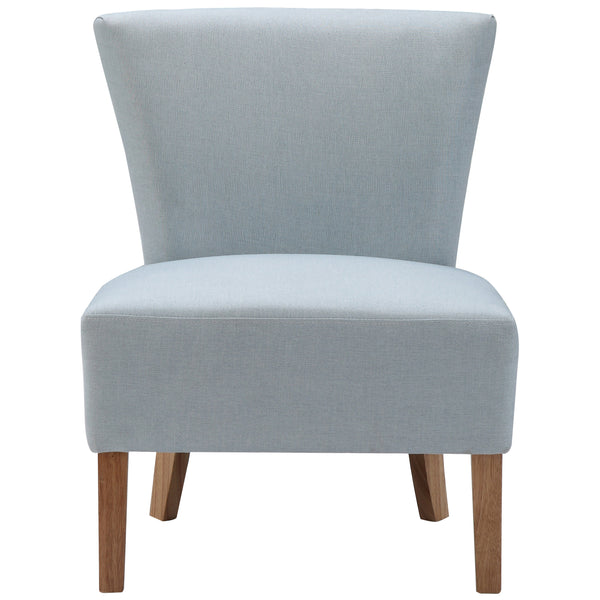 Blue Linen Style Fabric Accent Chair