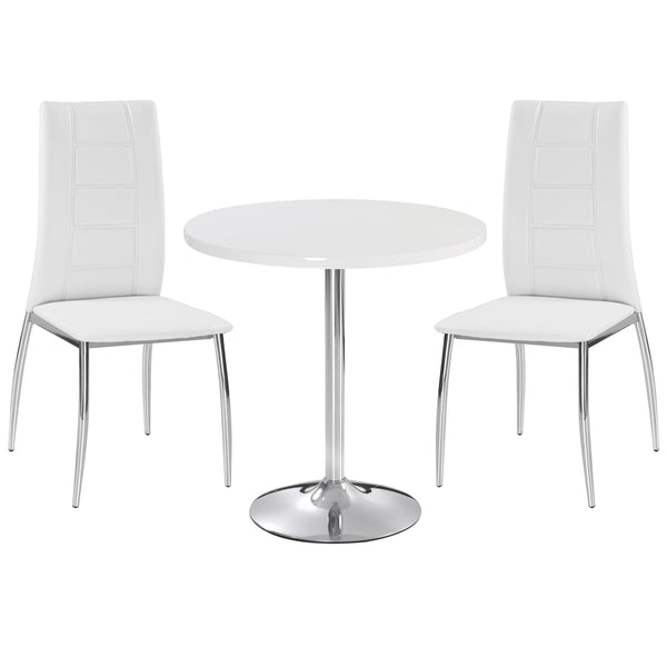 Chrome & High Gloss Dining Set