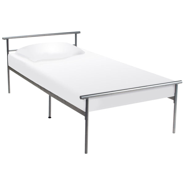 Silver Metal Finish Bed Frame