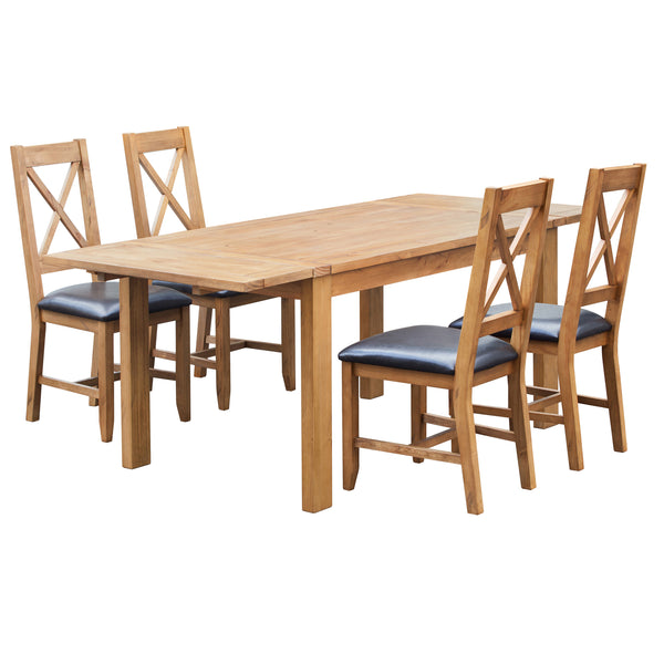 Solid Pine Extending Dining Set