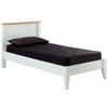White & Real Ash Veneer Bed Frame