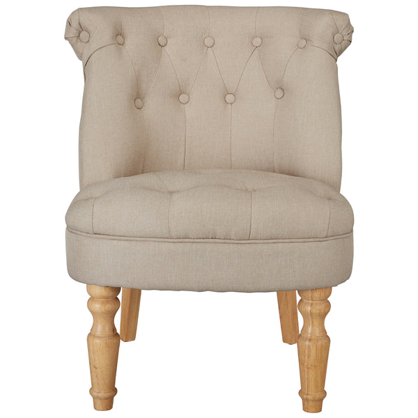 Linen Style Fabric Accent Chair