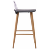 2x Painted & Oak Finish Bar Stool