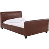 Brown Faux Leather Bed Frame
