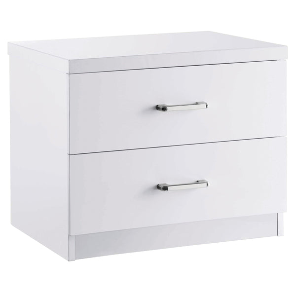High Gloss Finish Bedside Cabinet