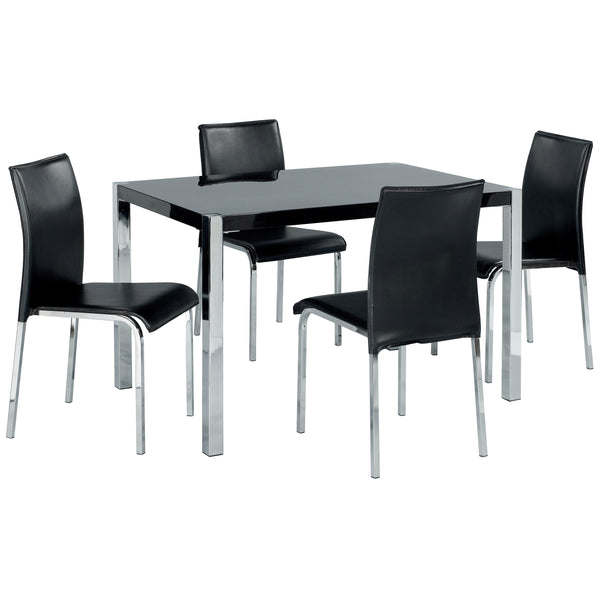 High Gloss Finish Dining Set