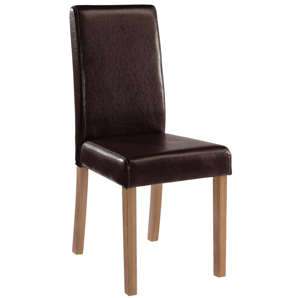 2x Faux Leather Dining Chairs