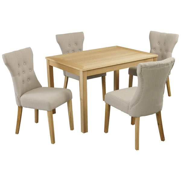 Oak Finish Dining Set