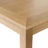 Real Ash Veneer & Oak Finish Dining Table