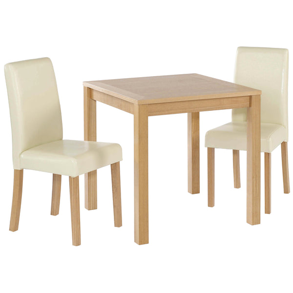 Real Ash Veneer & Oak Finish Dining Set