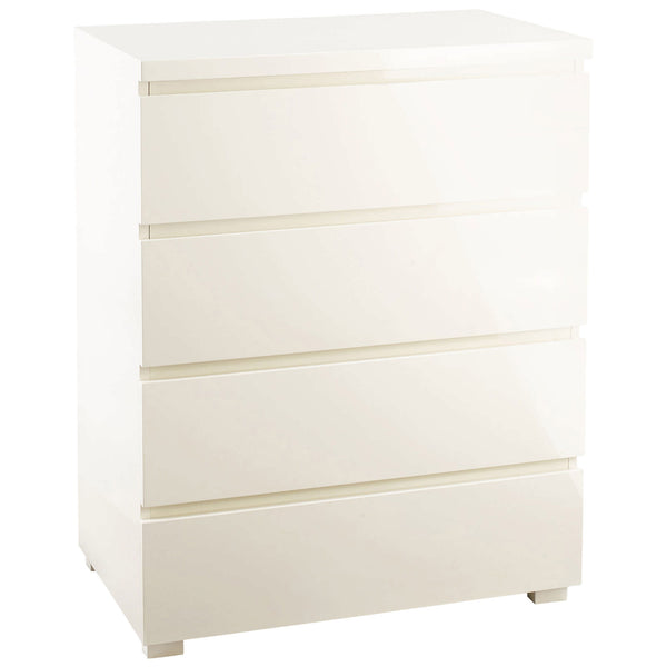 High Gloss Finish Chest of 4 Drawers