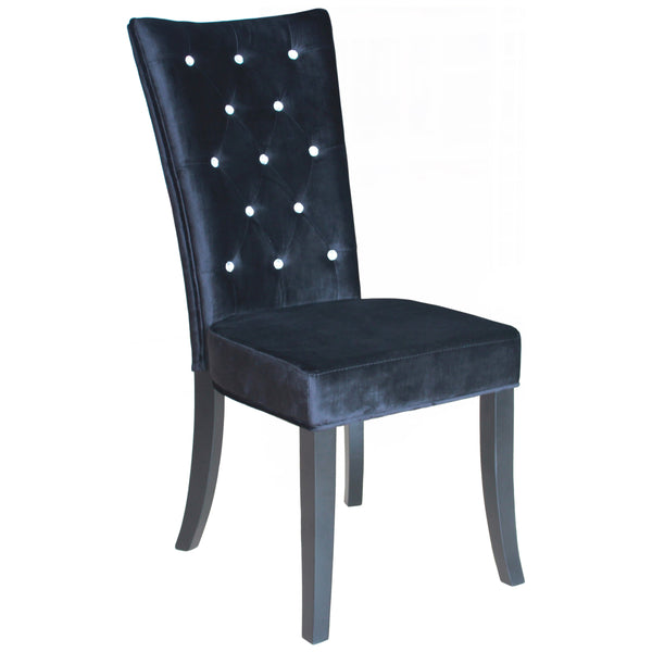 2x Velvet Style Fabric Dining Chairs