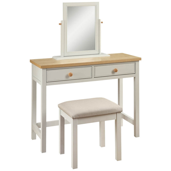 Dove Grey & Real Ash Veneer Dressing Table Set