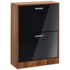 High Gloss & Walnut Finish Storage Unit