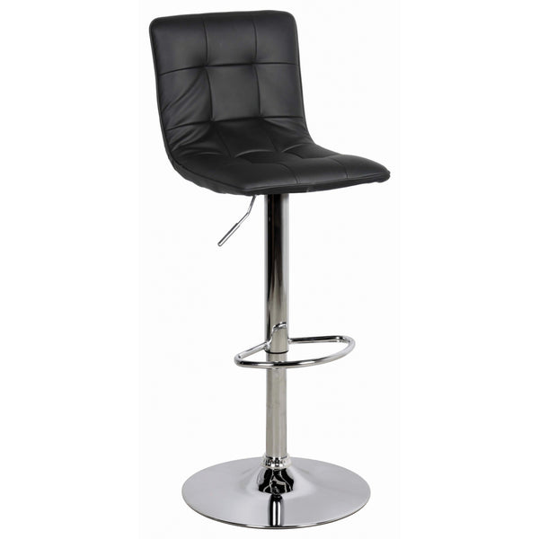 Leather & Chrome Bar Stool