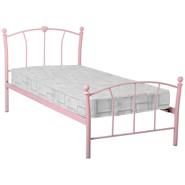 Pink Metal Childrens Bed