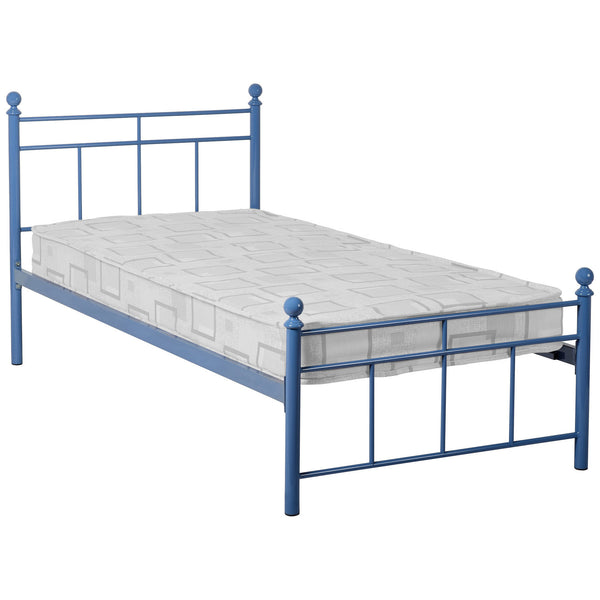 Blue Metal Childrens Bed