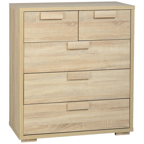 Sonoma Oak Effect Veneer Chest of 3+2 Drawers