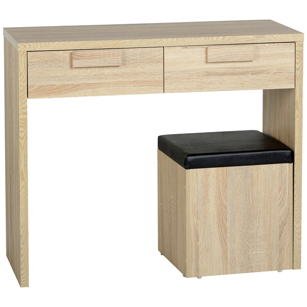 Sonoma Oak Effect Veneer Dressing Table Set