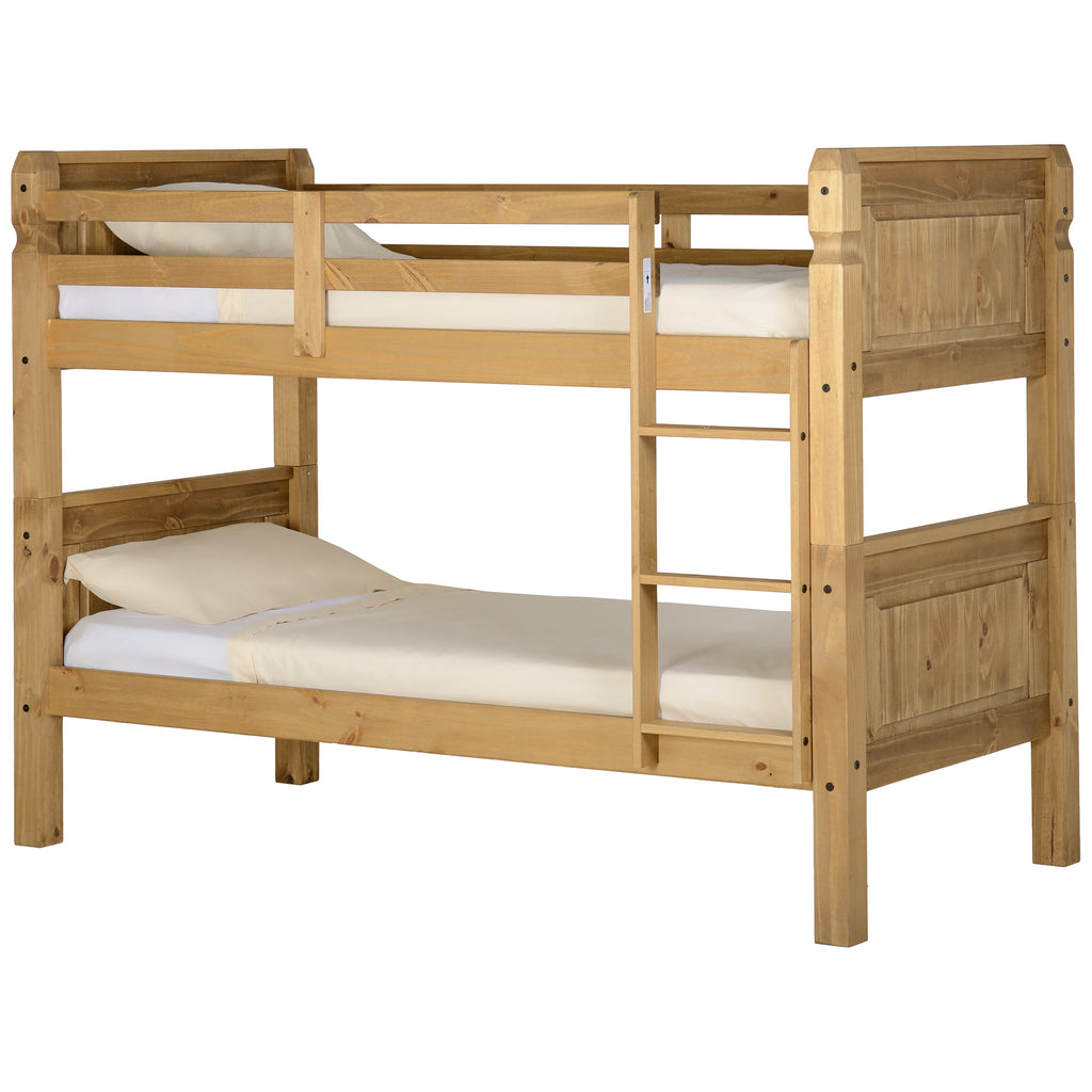 Distressed Waxed Pine Finish Bunk Bed