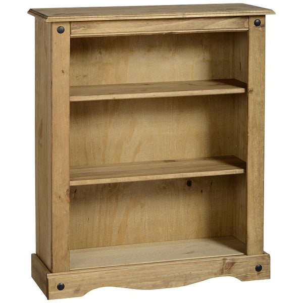 Distressed Waxed Pine Finish Bookcase