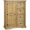 Distressed Waxed Pine Finish Wardrobe