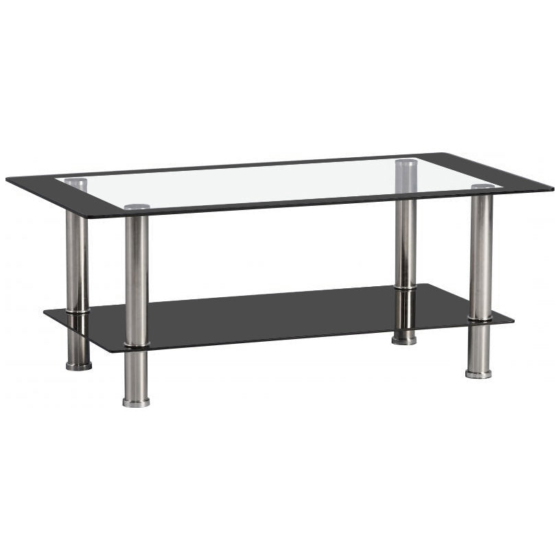 Black & Clear Glass Coffee Table