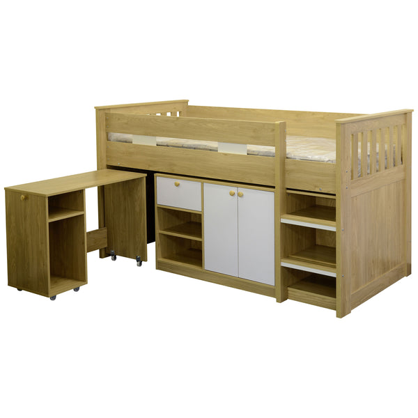 Oak Effect Veneer Bunk Bed