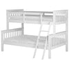 White Finish Triple Sleeper Bunk Bed