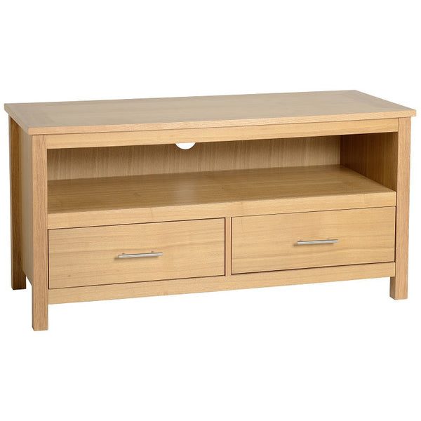 Natural Oak Veneer TV Unit